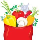 komarnica warzywo pakuje podpraw warzywa Fotografia Royalty Free