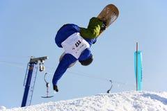 komarnicy mężczyzna snowboard Obraz Royalty Free