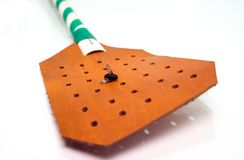 Komarnicy Swatter na bielu, Fotografia Stock