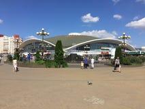 Komarovsky-Markt in Minsk Weißrussland stockbild