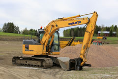 Komatsu Hydraulic Excavator on Work Site Stock Images
