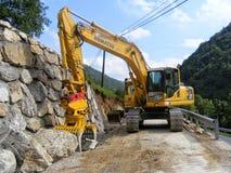 Komatsu PC 230 NHD new excavator in operation. royalty free stock photo
