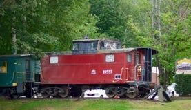 Kombüseneisenbahnwagen Stockbild