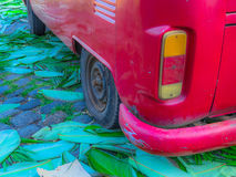 Kombi vermelho Foto de Stock