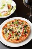 Kombinaci pizzy polewy Obrazy Stock