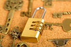 Kombinacja kędziorek twój miłość klucz Zdjęcia Stock