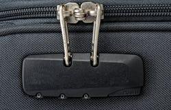 Kombinacja kędziorek dla suwaczka na walizce Obraz Stock