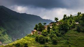 Kombinationen av naturen och hus royaltyfria foton