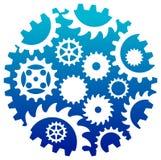 Kombinerad industrilogo royaltyfri illustrationer