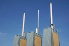 Kombinerad värme och kraftverk Arkivbilder