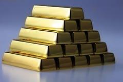 kombinerade guldtackor Arkivbilder