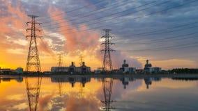 Kombizyklus-Kraftwerk Stockfotografie