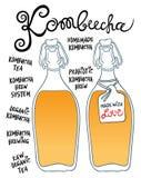 Kombucha lub Hongo w szklanych butelkach Obraz Royalty Free