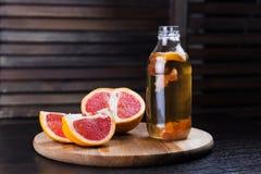 Kombucha med grapefrukten Royaltyfri Bild