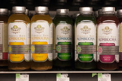Kombucha Tea on store shelf royalty free stock images