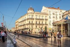 Komödienplatz in Montpellier Lizenzfreie Stockfotografie