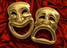 komedi maskerar tragedi Royaltyfri Bild