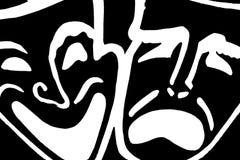 Komedii i dramata maski Fotografia Stock