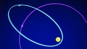 Komeet en planetarische baan stock footage