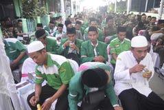 Komendant Policji Tito Karnavian odwiedzał Pondok Pesantren Raudlatut Thalibin Rembang fotografia royalty free