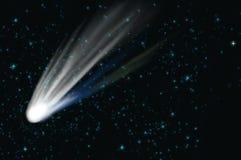 Komet auf dem Raum lizenzfreie abbildung