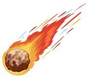 Komet, der unten schnell fällt lizenzfreie abbildung
