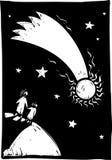 Komet im Himmel stock abbildung