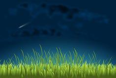 Komet im nächtlichen Himmel lizenzfreie abbildung