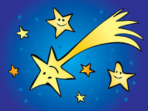 Komet im Sternhimmel Stock Abbildung