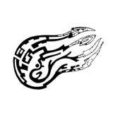 Komet im Stil einer gemalten Skizze stock abbildung