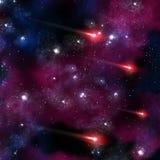 Komet im Universum lizenzfreie abbildung
