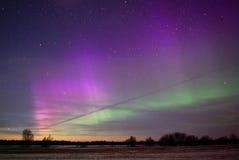 Komet Pan-Starrs C/2011 L4 und Aurora Lizenzfreie Stockfotos