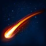 Komet, Vektorillustration vektor abbildung