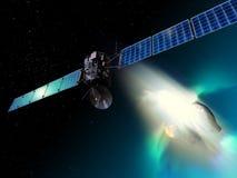 Kometa pościg Zdjęcie Royalty Free