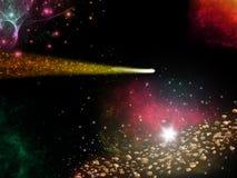 Kometabstrakt begrepp stock illustrationer