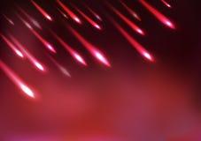 Kometen, fallender Stern, Astronomie, helle Bewegungskonzeptzusammenfassung, Vektorhintergrund vektor abbildung