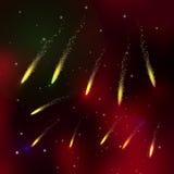 Kometen am nächtlichen Himmel Stockfoto