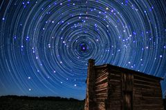 Kometensrarspuren Stockfotografie