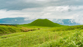 Komezuka volcanic cone in Mt. Aso area in Japan Royalty Free Stock Photo