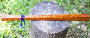 KomFaek wood baton. Is weapon Thailand ancient royalty free stock image