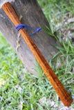 KomFaek wood baton. Is weapon Thailand ancient royalty free stock photo