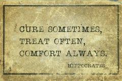 Komfort alltid Hippocrates royaltyfria foton