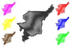 Komi republiki mapy wektor Ilustracja Wektor