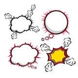 Komiczek ikony ilustracji