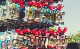 Komiczka bohatera zabawki miniatury obraz stock