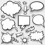 Komiczka elementy i bąble ilustracja wektor