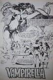 Komiczka popularny seksowny wampira komiksu charakter Vampirella fotografia stock