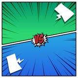 Komiczka projektujący tło Kolorowy versus, wektor royalty ilustracja