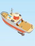 Komiczna łódź Obrazy Stock