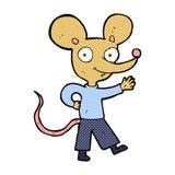 komiczna kreskówki falowania mysz Zdjęcia Royalty Free